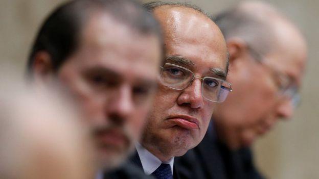 Dias Toffoli, Gilmar Mendes e Ricardo Lewandovski em sessão do STF