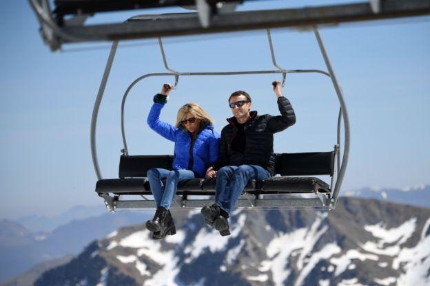 La pareja Macron