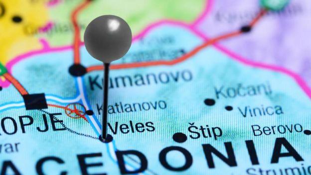 Mapa mostra Veles