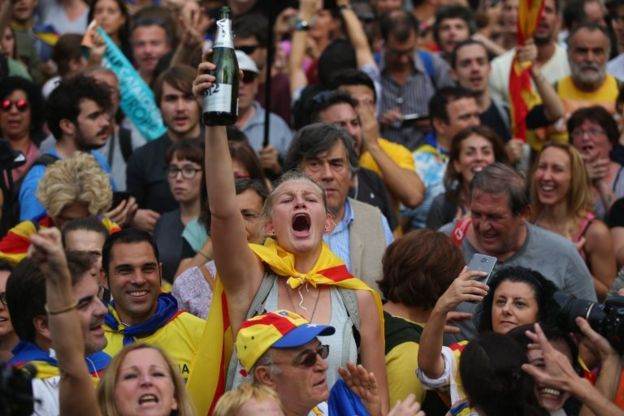Barcelona'da sevinç gösterileri