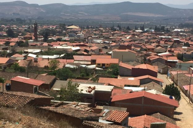 Vista aérea de Vallegrande (Foto: Luis Velasco/BBC Mundo)