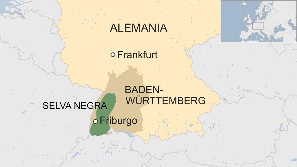 Mapa de Friburgo, Alemania