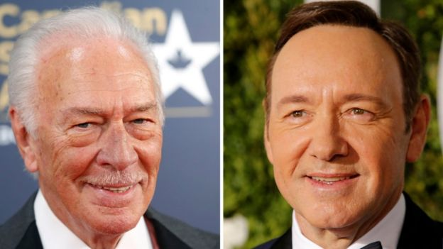 Los actores Christopher Plummer y Kevin Spacey