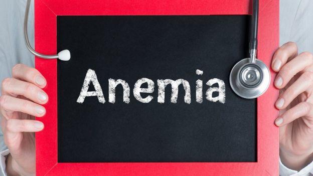 Cartaz com a palavra 'anemia'