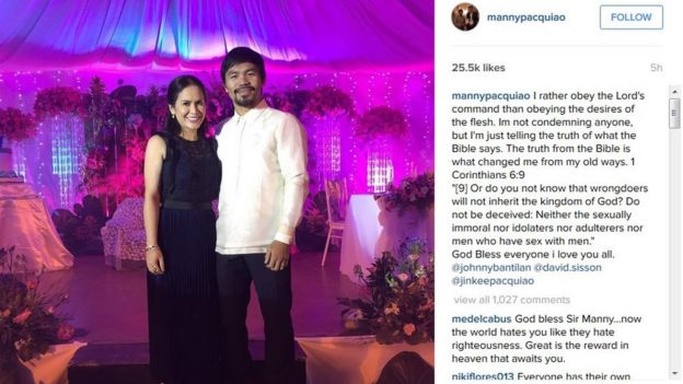 Instagram post by Manny Pacquiao on 16 February 2016
