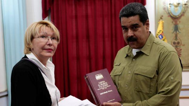 Luis Ortega y Nicolás Maduro.