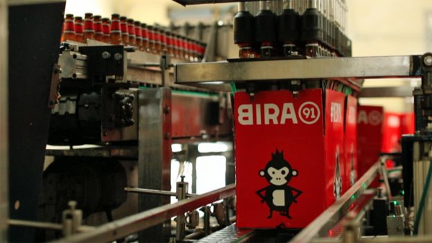 Production at Bira 91's brewery in Nagpur
