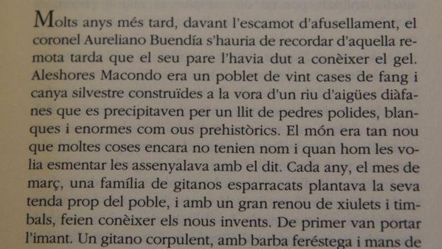 La primera página de la edición en catalán.
