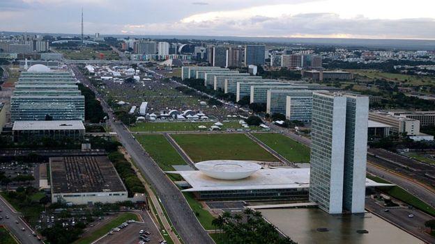 A Esplanada dos Ministérios, em Brasília