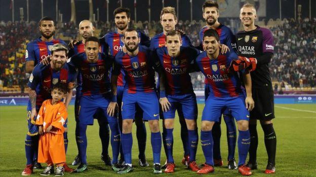 Murtaza Ahmadi y el 11 inicial del Barcelona
