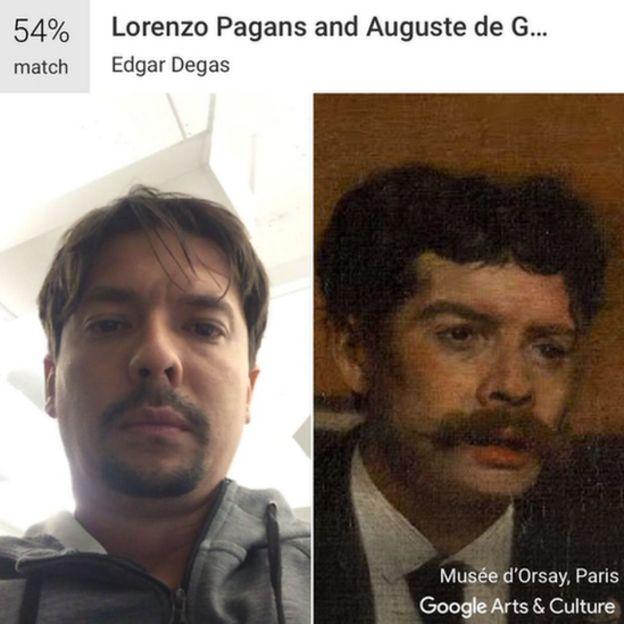 """Comparación de imágenes en la app """"Arts and Culture"""""""