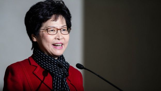 Hong Kong's new leader Carrie Lam, pictured on 27 March 2017