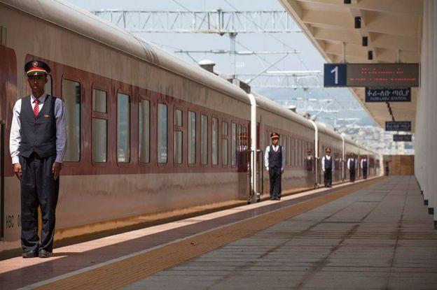 Jalur kereta di Afrika