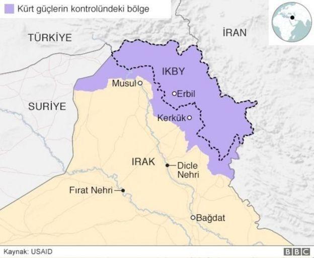 IKBY haritası