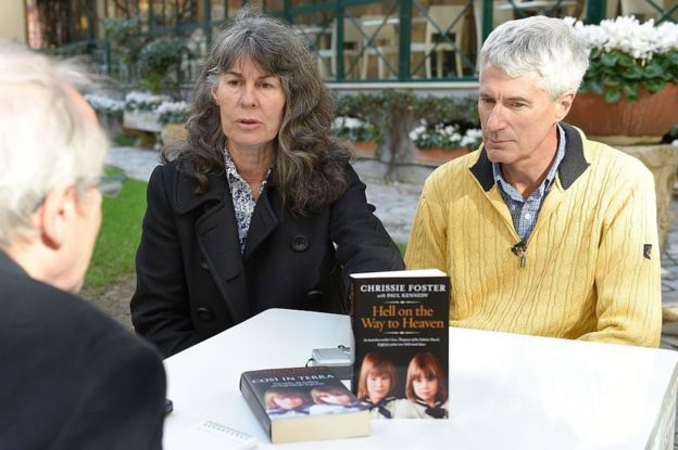 Chrissie and Anthony Foster with her book, Hell on the Way to Heaven