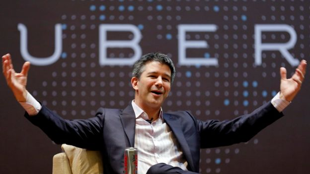 File Photo of former Uber CEO Travis Kalanick as he spoke to students at the Indian Institute of Technology (IIT) campus in Mumbai, India, January 19, 2016.