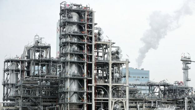 Singapore oil refinery