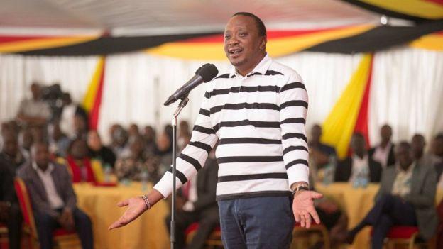 Rais Uhuru Kenyatta akiwahutubia viongozi wa chama tawala ha Jubilee siku moja baada ya uchaguzi wake kubatilishwa na mahakama
