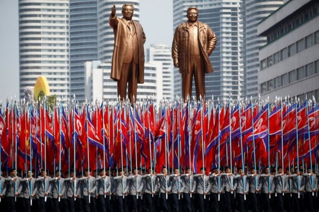 North Korea is marking the 105th anniversary of the birth of its founding president, Kim Il-sung