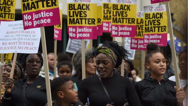 Protesta en Hackney el lunes