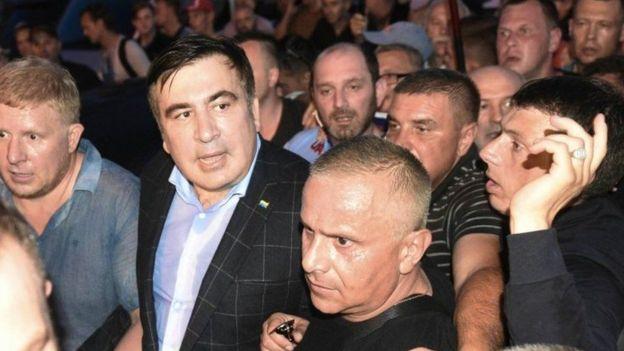 У неділю Міхеілу Саакашвілі вдалося потрапити на територію України попри протидію прикордонників і поліції