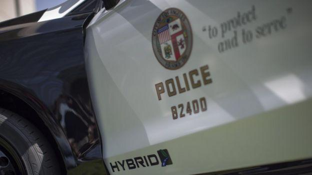 Auto de la policía de Los Ángeles