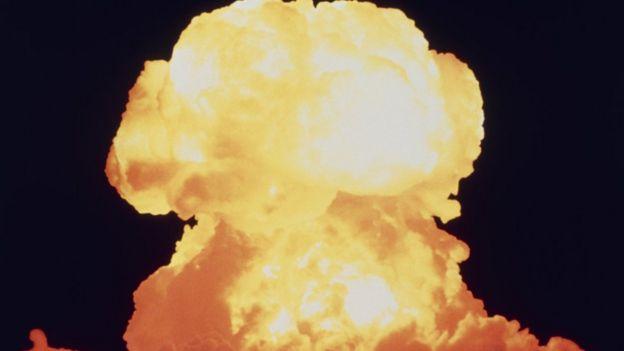 Una explosión nuclear.