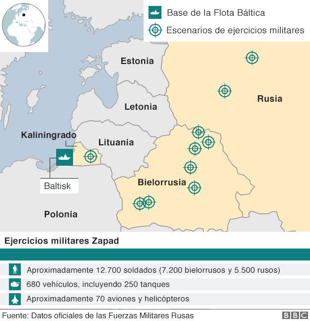 Mapa de la operación Zapad