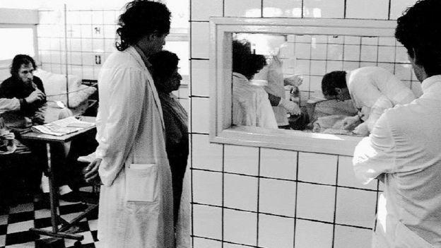 Un hospital en Buenos Aires, Argentina, con pacientes de de Sida.