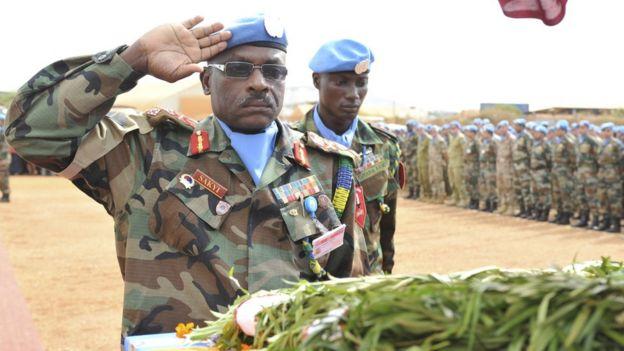Lễ truy điệu một quân nhân Ấn Độ trong Lực lượng Gìn giữ Hòa bình LHQ bị giết tại Nam Sudan
