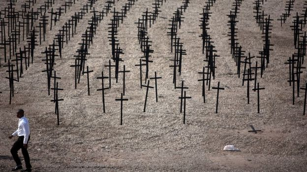 Memorial en honor a las víctimas del terremoto de Haití en 2010.