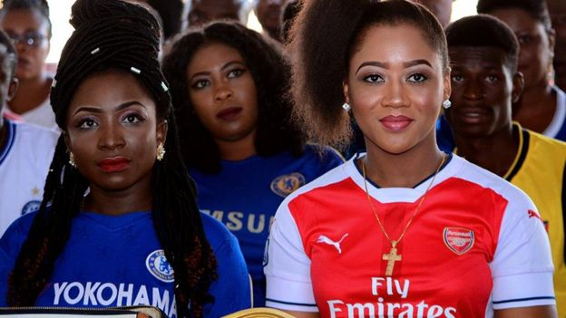 Chelsea fan and Arsenal fan