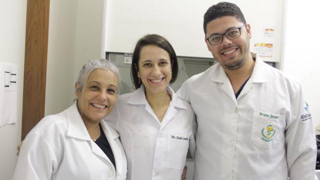 Antônia Franco, Claudia Dantas e Bruno Jensen