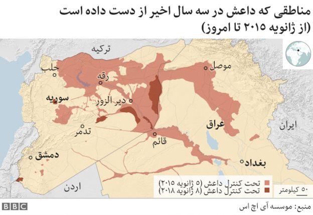 مناطق تحت کنترل داعش