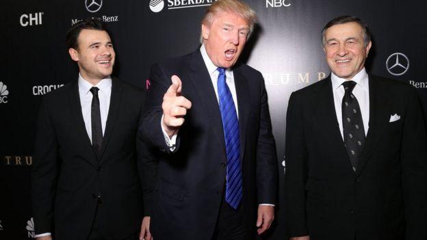 Emin Agalarov, Donald Trump y Aras Agalarov.