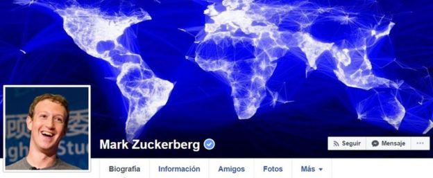página web oficial de Mark Zuckerberg.