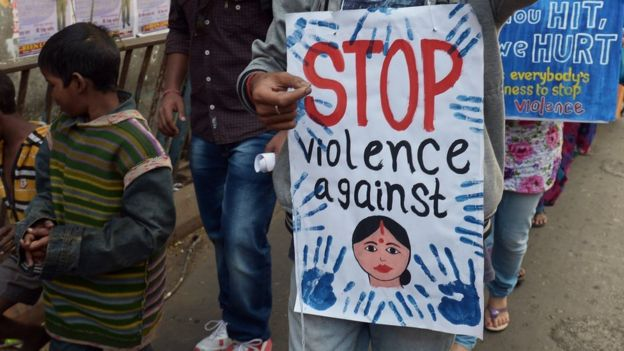 Protesta contra la violencia sexual en India