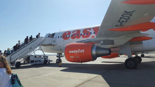 Passengers boarding Easyjet flight to London Gatwick at Sharm el-Sheik airport on 6 November 2015