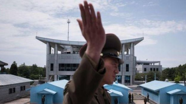 Trạm kiểm soát tại Khu Phi Quân sự DMZ