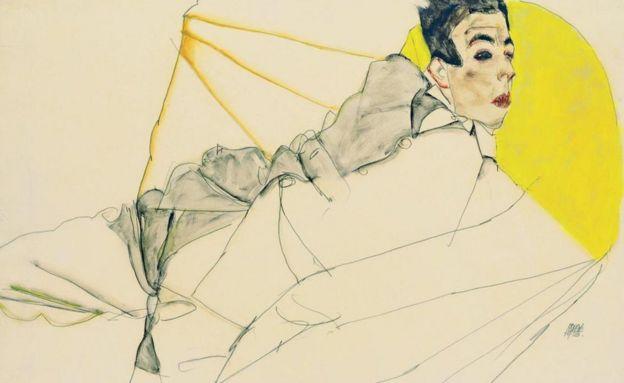 席勒喜欢画年轻人体,引发了众人的非议,也招来了官司。