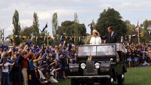 The Queen and Duke of Edinburgh in Melbourne, 1977