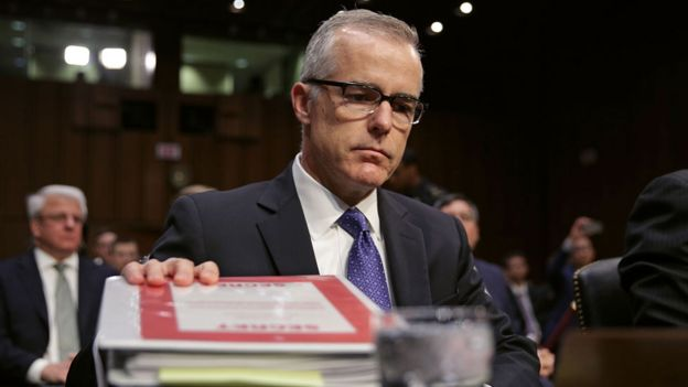 Acting FBI director Andrew McCabe