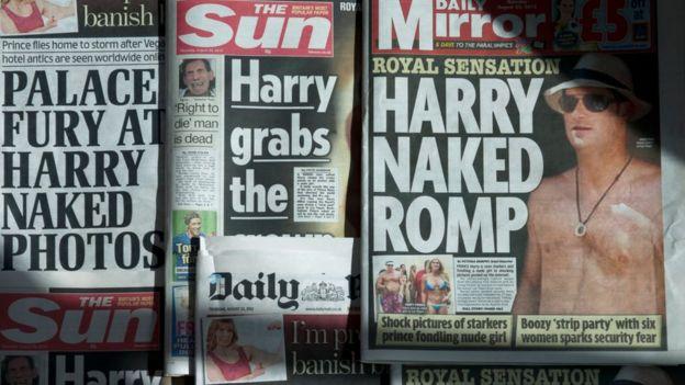 Газеты с фотографиями принца Гарри