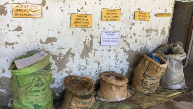 Items at an IED factory