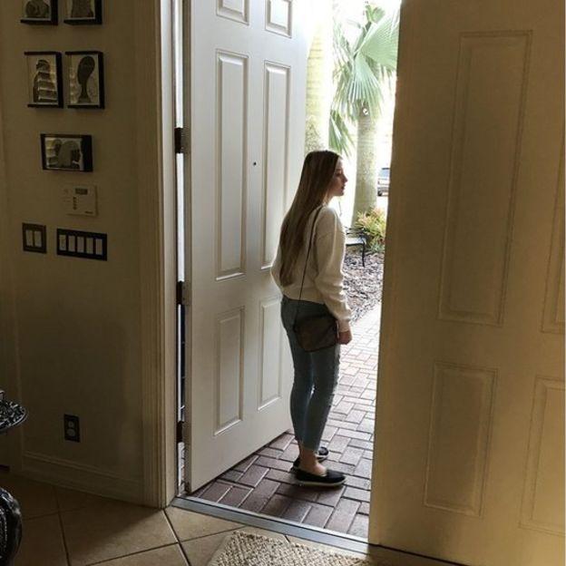 Andrea, sobreviviente del tiroteo en Florida.