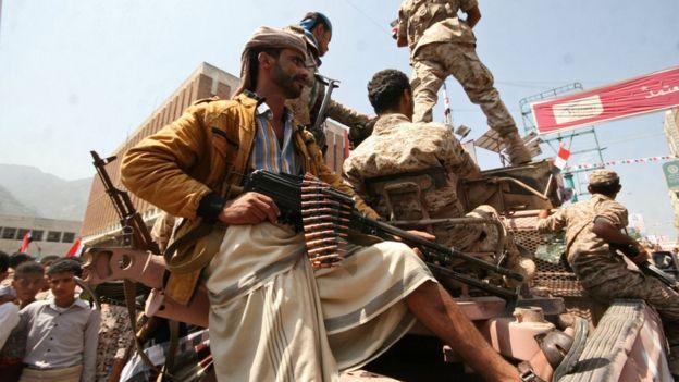قوات موالية للحكومة اليمنية في تعز