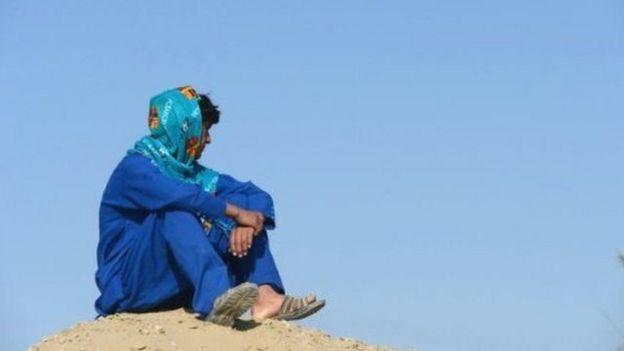 پسری در جنوب افغانستان