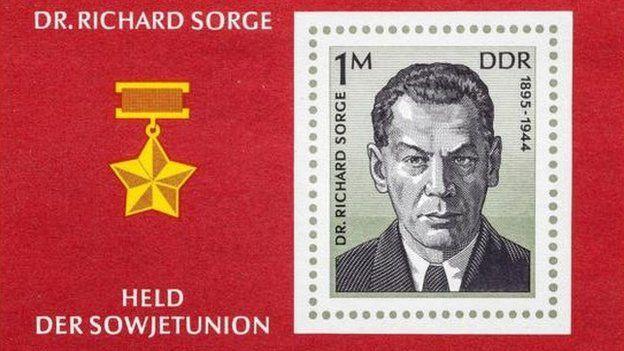 Una estampilla soviética del doctor Richard Sorge