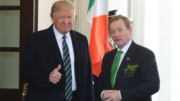 Donald Trump met Enda Kenny in the oval office