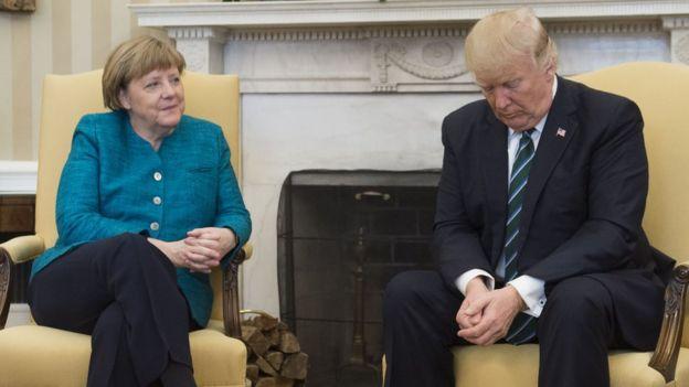 Ángela Merkel y Donald Trump